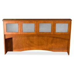 "Contemporary 9000 Overhead Storage - 72"" x 41"" x 16"" - Drawer(s)4 Door(s) - Material: Glass Door - Finish: Cherry, Veneer"