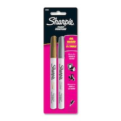 Sharpie Paint Marker - Extra Fine Point Type - Gold, Silver Oil Based Ink - 2 / Pack