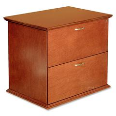 "Lorell Contemporary 9000 Lateral Files - 33"" x 29"" x 24"" - 2 - Material: Hardwood - Finish: Cherry, Veneer"