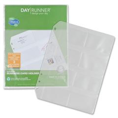"Day Runner Eight Top-loading Planner Card Slots - 8.50"" x 11"" - 7-ring - Clear - Hole-punched"