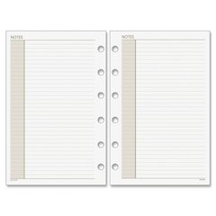 "Day Runner Planner Notes Refill Pages - 8.50"" x 11"" - 7-ring - White - Hole-punched"