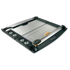 "Westcott Laptop Rotary Paper Trimmer - Cuts 10Sheet - 12"" Cutting Length - Titanium - Gray, Yellow"
