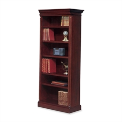 "Keswick Right Hand Facing Bookcase - 33.8"" x 16"" x 80"" - 6 Shelve(s) - Molded Edge - Material: Wood - Finish: Cherry, English Cherry, Veneer"