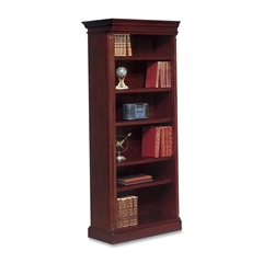 "DMi Keswick Left Hand Facing Bookcase - 33.8"" x 16"" x 80"" - 6 Shelve(s) - Molded Edge - Material: Wood - Finish: Cherry, English Cherry, Veneer"