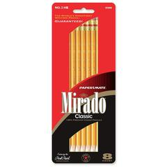 Paper Mate Mirado Classic 5888 Woodcase Pencil - #2 Lead Degree (Hardness) - Black Lead - Yellow Wood Barrel - 8 / Pack