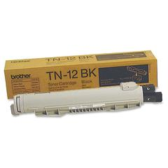 Brother 12BK Black Toner Cartridge - Laser - 9000 Pages - 1 Each