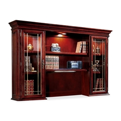 "DMi Keswick 7990-64 Executive Overhead Storage Hutch - 72"" x 15"" x 50"" - 6 Shelve(s) - Material: Glass Door - Finish: Cherry, English Cherry, Veneer"