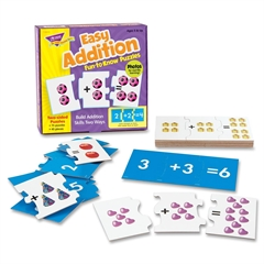 Easy Addition Fun-to-Know Puzzles - Theme/Subject: Learning - Skill Learning: Addition, Number Recognition - 45 Pieces