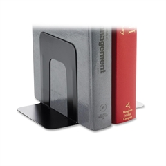 "Business Source Book Supports with Poly Base - 5.3"" Height x 5"" Width x 4.8"" Depth - Desktop - Black - Steel - 2 / Pair"