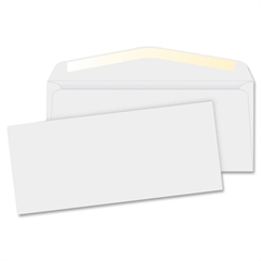 "Business Source No. 10 White Business Envelopes - Commercial - #10 - 9.50"" Width x 4.12"" Length - 24 lb - Gummed - Wove - 500 / Box - White"