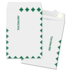 "Business Source DuPont Tyvek Catalog Envelopes - Document - 9"" Width x 12"" Length - Peel & Seal - Tyvek - 100 / Box - White"