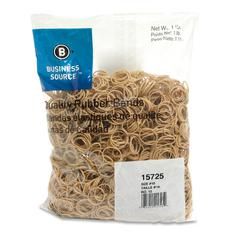 "Business Source Quality Rubber Bands - Size: #10 - 1.25"" Length x 62.5 mil Width - Sustainable - 3700 / Pack - Rubber - Crepe"