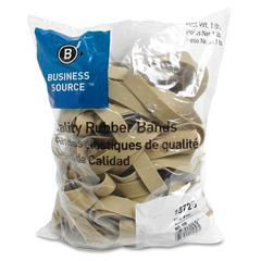 "Business Source Quality Rubber Band - Size: #105 - 5"" Length x 0.63"" Width - Sustainable - 60 / Pack - Rubber - Crepe"