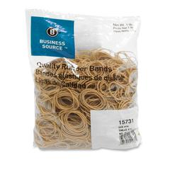 "Business Source Quality Rubber Band - Size: #14 - 2"" Length x 62.5 mil Width - Sustainable - 2250 / Pack - Rubber - Crepe"