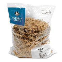 "Business Source Quality Rubber Bands - Size: #16 - 2.50"" Length x 62.5 mil Width - Sustainable - 1800 / Pack - Rubber - Crepe"