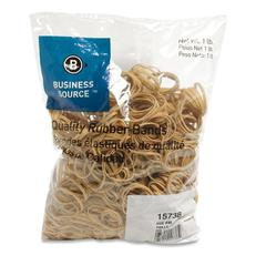 "Business Source Quality Rubber Band - Size: #30 - 2"" Length x 50 mil Width - Sustainable - 1150 / Pack - Rubber - Crepe"