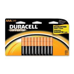 Duracell Coppertop Alkaline AAA Battery - MN2400 - AAA - Alkaline - 20 / Pack