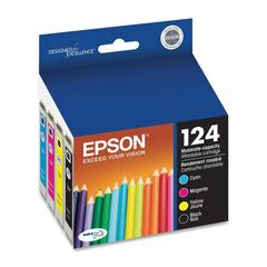 Epson DURABrite 124 Moderate Capacity Ink Cartridge - Inkjet - 170 Page - 4 / Pack