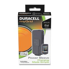 Duracell myGrid Charging Power Sleeve - Multimedia Player - Black