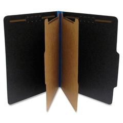 """SJ Paper Fusion Classification Folder - Letter - 8 1/2"""" x 11"""" Sheet Size - 2 1/4"""" Expansion - 2 Fastener(s) - 2/5 Tab Cut - Right of Center Tab Location - 2 Divider(s) - 25 pt. Folder Thickness - Blue"""