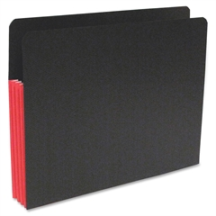 "SJ Paper Fusion Expanding Clutch Pocket - Letter - 8 1/2"" x 11"" Sheet Size - 3 1/2"" Expansion - 23 Pocket(s) - 23 pt. Folder Thickness - Red, Black - Recycled - 25 / Box"