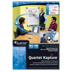 "Quartet Kapture Digital Flip Chart Pad - 30 Sheets - Printed - 22.50"" x 33"" - White Paper - 2 / Pack"