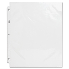 "Business Source Top-Loading Heavyweight Clear Sheet Protector - 3.3 mil Thickness - For Letter 8.50"" x 11"" Sheet - Rectangular - Clear - Polypropylene - 50 / Box"