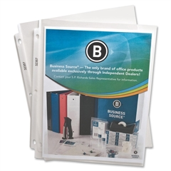 """Business Source Top-Loading Poly Sheet Protectors - 2.4 mil Thickness - For Letter 8.50"""" x 11"""" Sheet - Rectangular - Clear - Polypropylene - 50 / Pack"""