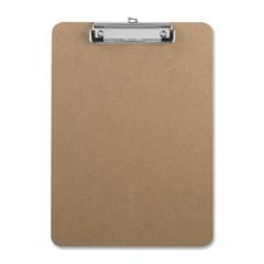 "Business Source Clipboard - 9"" x 12.50"" - Hardboard - Brown"