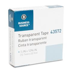 "All-purpose Glossy Transparent Tape - 0.50"" Width x 36 yd Length - 1"" Core - 1 / Roll - Clear"