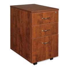 "Lorell Essentials Pedestal - 15.8"" x 22"" x 28.4"" - 3 x Box Drawer(s), File Drawer(s) - Finish: Cherry, Laminate"