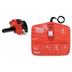Master Lock S1000 Seal Tight Safety Lockout Kit - For Ball Valve - Red