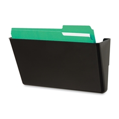 "Deflect-o Recycled DocuPocket Wall Files - Letter - 8 1/2"" x 11"" Sheet Size - 1 Pocket(s) - Plastic - Black - Recycled - 1 Each"