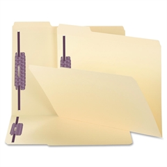 """Manila Fastener Folders with SafeSHIELD Coated Fastener Technology - Legal - 8 1/2"""" x 14"""" Sheet Size - 3/4"""" Expansion - 2 Fastener(s) - 1/3 Tab Cut - Assorted Position Tab Location - 11 pt. Fold"""