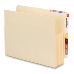 "Smead End Tab Convertible File Pockets - Letter - 8 1/2"" x 11"" Sheet Size - 5 1/4"" Expansion - Manila - Manila - Recycled - 10 / Box"