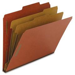 """Classification Folder - Letter - 8 1/2"""" x 11"""" Sheet Size - 6 Fastener(s) - 2"""" Fastener Capacity for Folder, 1"""" Fastener Capacity for Divider - 2 Divider(s) - 25 pt. Folder Thickness - Pre"""