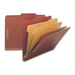 "Nature Saver Classification Folder - Legal - 8 1/2"" x 14"" Sheet Size - 8 Fastener(s) - 2"" Fastener Capacity for Folder, 1"" Fastener Capacity for Divider - 3 Divider(s) - 25 pt. Folder Thickness - Pres"