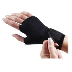 Dome Flex-fit Therapeutic Gloves - Small Size - Fabric - Black - Wrist Strap - For Healthcare Working - 2 / Pair
