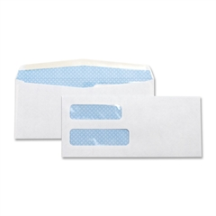 "Business Source No. 10Double Window Invoice Envelopes - Double Window - #10 - 9.50"" Width x 4.25"" Length - 24 lb - Gummed - Wove - 500 / Box - White"