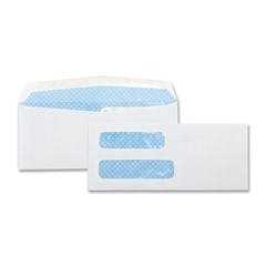 "Business Source No. 8-5/8 Business Check Envelopes - Double Window - #8 5/8 - 8.63"" Width x 3.63"" Length - 24 lb - Gummed - Wove - 500 / Box - White"