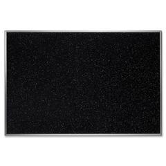 "Ghent Confetti Rubber Tackboard - 24"" Height x 36"" Width - Rubber Surface - Aluminum Frame - 1 Each"