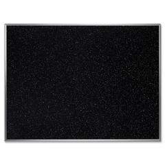 "Ghent Confetti Rubber Tackboard - 36"" Height x 48"" Width - Rubber Surface - Self-healing, Stain Resistant, Fade Resistant - Aluminum Frame - 1 Each"