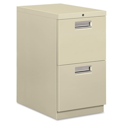 """HON Brigade 33823 Standard Height Pedestal - 15"""" x 22.9"""" x 28"""" - 2 x File Drawer(s) - Letter - Ball-bearing Suspension, Security Lock - Putty - Recycled - No"""