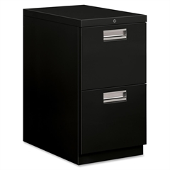 "HON Brigade 33823 Standard Height Pedestal - 15"" x 22.9"" x 28"" - 2 x File Drawer(s) - Letter - Ball-bearing Suspension, Security Lock - Black - Recycled - No"