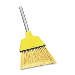 "Genuine Joe Angle Broom - 47"" Length Handle - 54.5"" Overall Length - 1 Each - Yellow"