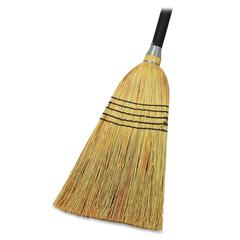 "Genuine Joe Janitor Lobby Blend Broom - 11"" Fiber Bristle - 56""Wood Handle - 1 Each"