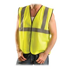 L-XL Class II Safety Vest - Polyester - Yellow - 1 Each