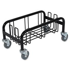 "Genuine Joe Wall Hugger Dolly - 10.5"" Width x 19.5"" Depth x 10"" Height - Black"