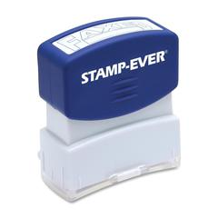 "U.S. Stamp & Sign Pre-inked Stamp - Message Stamp - ""FAXED"" - 0.56"" Impression Width x 1.69"" Impression Length - 50000 Impression(s) - Blue - 1 Each"