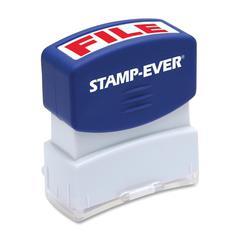 """U.S. Stamp & Sign Pre-inked Stamp - Message Stamp - """"FILE"""" - 0.56"""" Impression Width x 1.69"""" Impression Length - 50000 Impression(s) - Red - 1 Each"""
